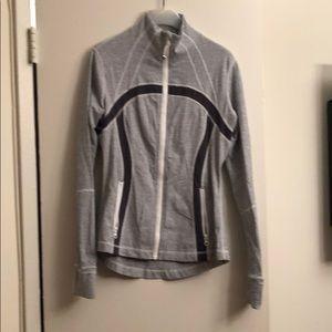Lululemon gray and white zip up define jacket